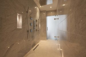 luxury wet room tiling