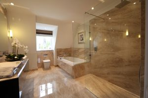 modern wet room shower