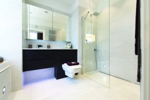 small wet room layout
