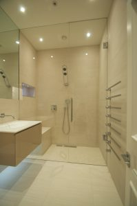 Double entry wet room designs